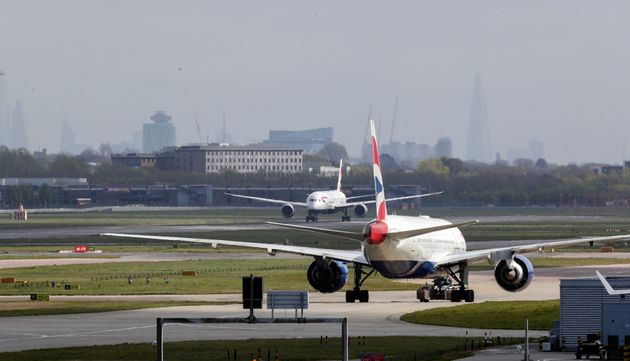 A stock image of planes taxiing at Heathrow