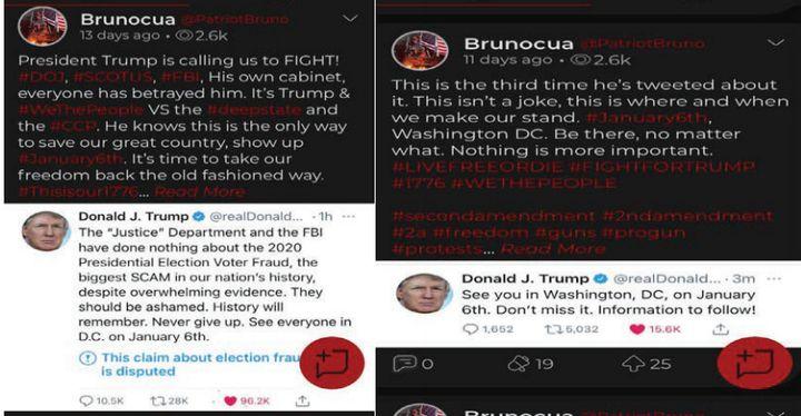 Bruno Cua's Parler posts.