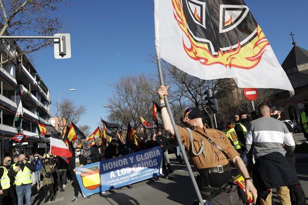 Un grupo de nazis se manifiesta en Madrid en homenaje a la División