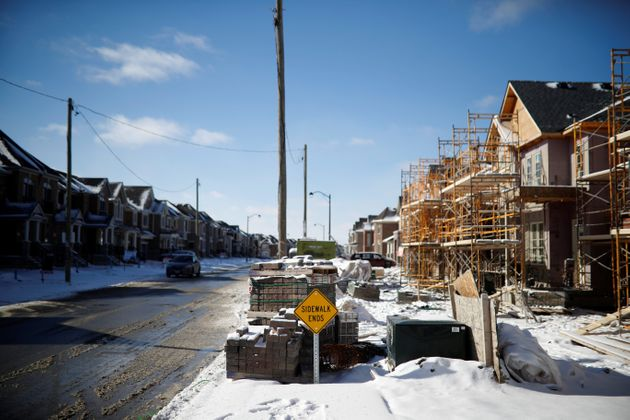 A subdivision of houses under construction in East Gwillimbury, Ont., Jan. 30,