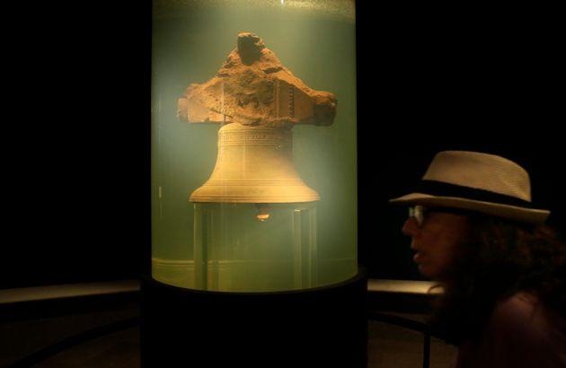 ウィダー号についていた鐘。ウィダー海賊博物館に展示されている(2016年9月21日)