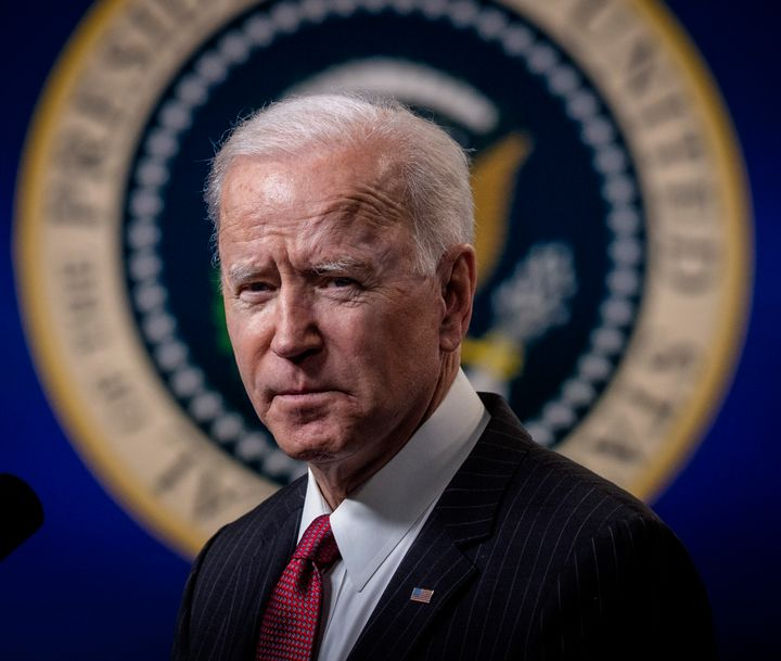 President Joe Biden said he was thinking of those who lost their lives and protected democracy in the Capitol insurrection fo