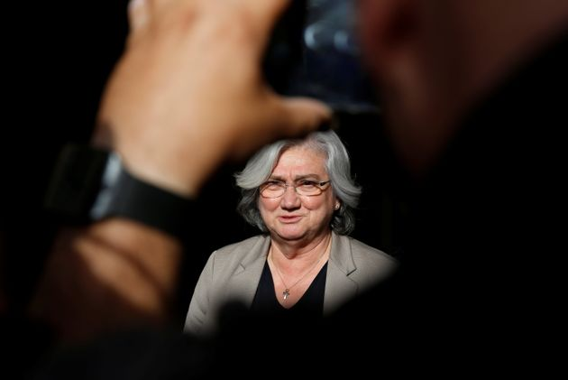 Rosy Bindi, president of the Italian Anti-Mafia Commission, speaks to journalists after a Mass celebrated...