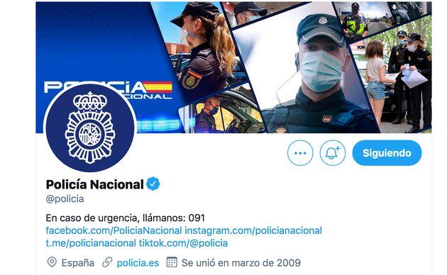 Cuenta de Twitter de la Policía