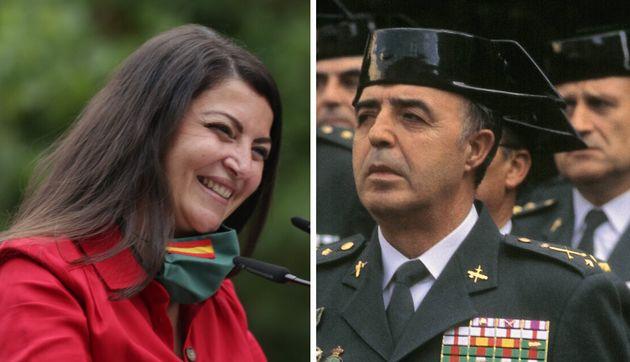 Macarena Olona (Vox) y el fallecido Rodríguez