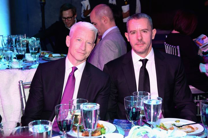 Cooper with Maisani at CNN Heroes 2015 on Nov. 17, 2015.