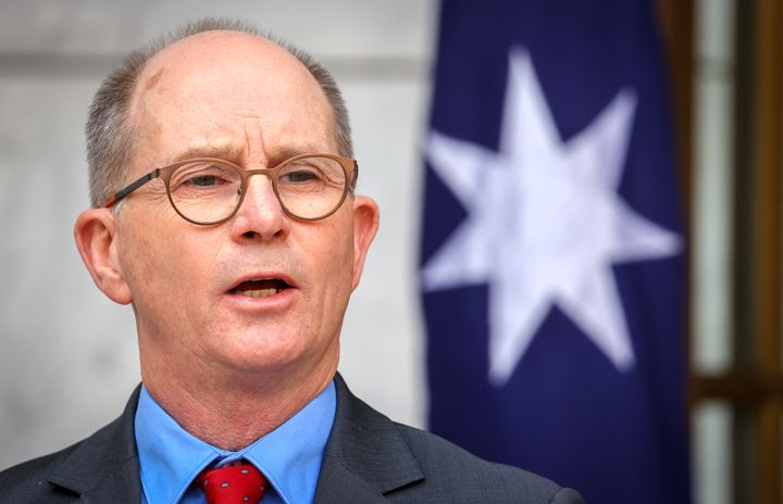 Australia's Chief Medical Officer Paul Kelly convened an urgent meeting late on Sunday (pictured here in September 2020)