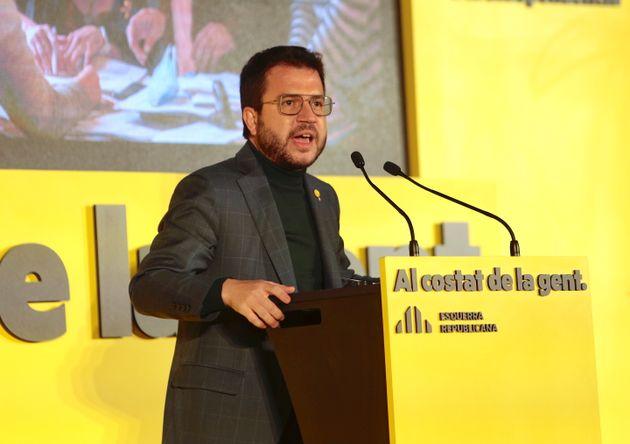 Pere Aragonès, candidato de ERC a la presidencia de la Generalitat de