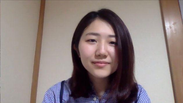 オンライン取材に応じた能條桃子さん