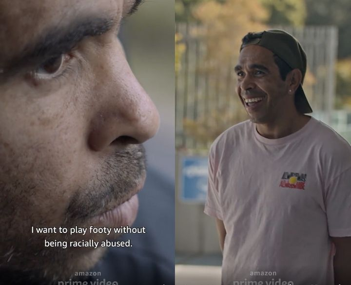 AFL player Eddie Betts spoke of how racism affects him and his family in the 'Making Their Mark' trailer.