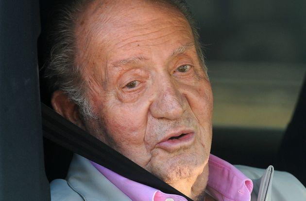 El rey emérito, a su salida del hospital Quirón de Madrid el 31 de agosto de 2019 (EUROPA