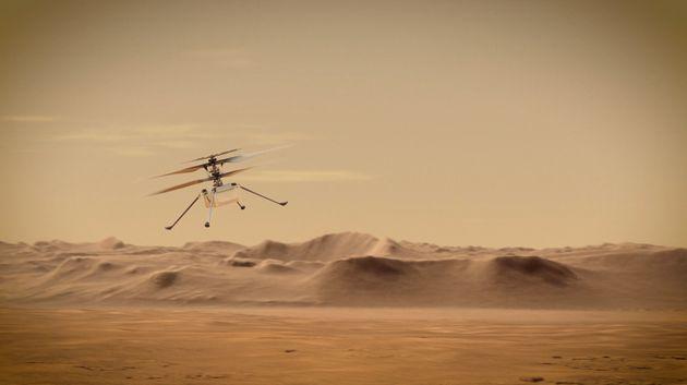 Le drone Ingenuity sera le premier hélicoptère à avoir jamais volé dans le...