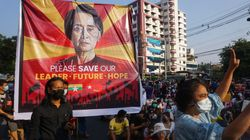 Myanmar Security Forces Crack Down On Anti-Coup