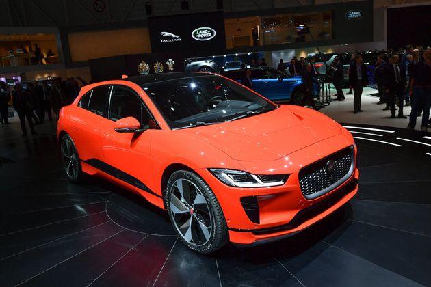 Le SUV électrique Jaguar I-Pace lors du International Motor Show de Genève, le 6 mars
