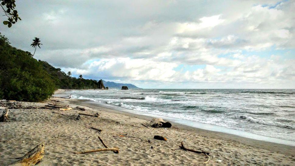 Tropical beach malpais Costa Rica