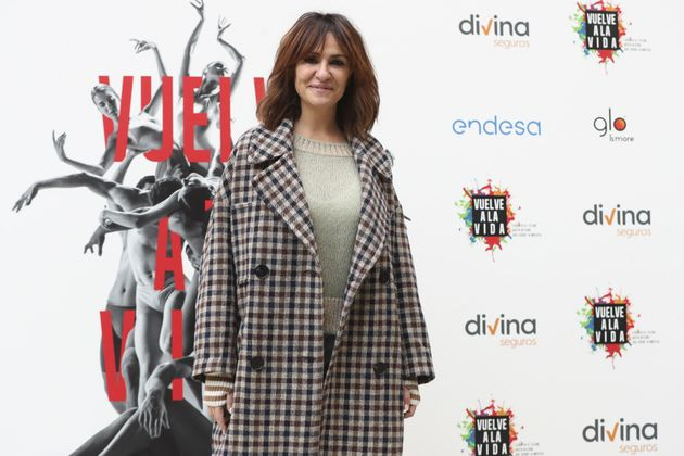 Melanie Olivares durante la presentación de 'Vuelve a la vida' en Madrid en diciembre de