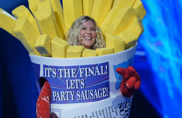 Joss Stone after being unmasked in Saturday's