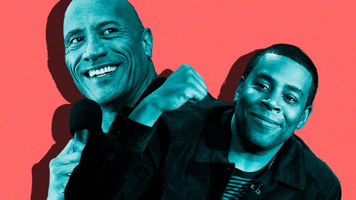 "Dwayne Johnson stars in ""Young Rock"" and Kenan Thompson stars in ""Kenan."""