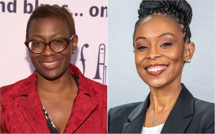 Nina Turner, a former Ohio state senator, left, leads Shontel Brown, a Cuyahoga County councilwoman, in direct fundraising. B