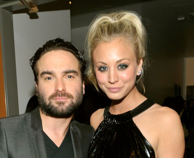 """Big Bang Theory"""" co-stars Johnny Galecki, on left, and Kaley Cuoco in"""