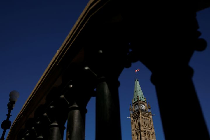 General view of the Peace Tower over Centre Block on Parliament Hill in Ottawa, Ontario, Canada September 17, 2020.  REUTERS/Blair Gable