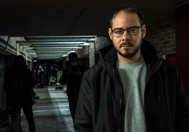 Spanish rapper Pablo Hasel poses at the University of Lleida, 150 kms (90 miles) west of Barcelona, on...