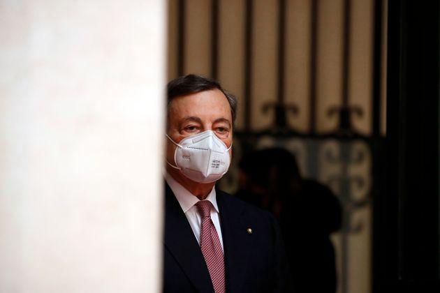 Palazzo Chigi: Inauguration ceremony of the new Prime Minister, Mario Draghi. Rome (Italy), February...