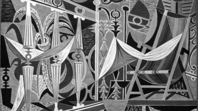 Αθηναϊκό μπαλκόνι (ασπρόμαυρη εκδοχή), 1955, Αθήνα, Εθνική Πινακοθήκη - Εργο του Χατζηκυριάκου