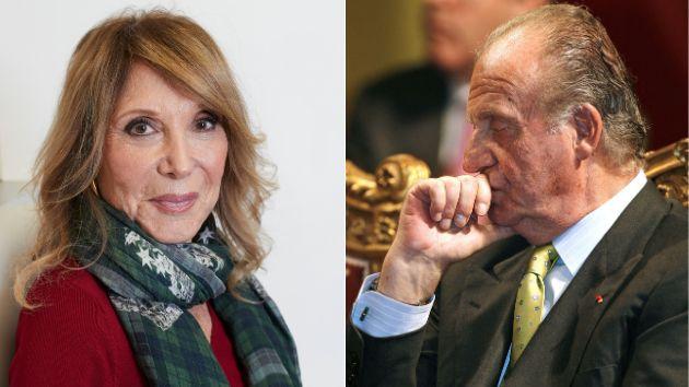 La periodista y escritora Pilar Eyre y el rey Juan Carlos