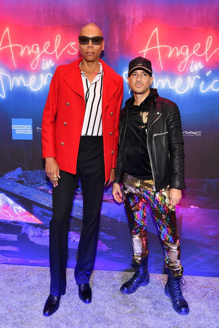 Gold (right) with RuPaul in 2018.