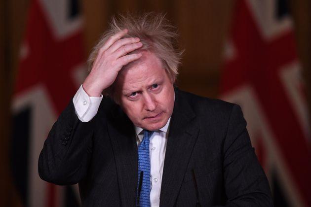 El primer ministro británico, Boris Johnson, en una rueda de prensa en Downing