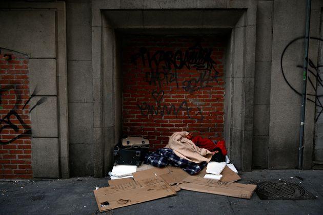 Los enseres de una persona sin hogar en