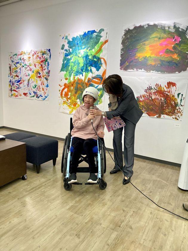 2020年12月に開催した「ともに生きるアート展」