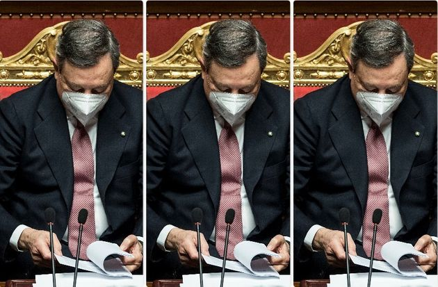 Draghi in Senato per il voto di