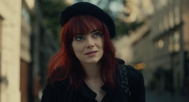 Emma Stone as a red-haired Cruella in the villain's early