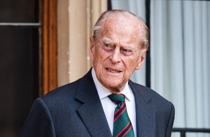 Prince Philip is photographed at Windsor Castle on July 22, 2020, in Windsor, England. The 99-year-old received his COVID-19 shots in January.