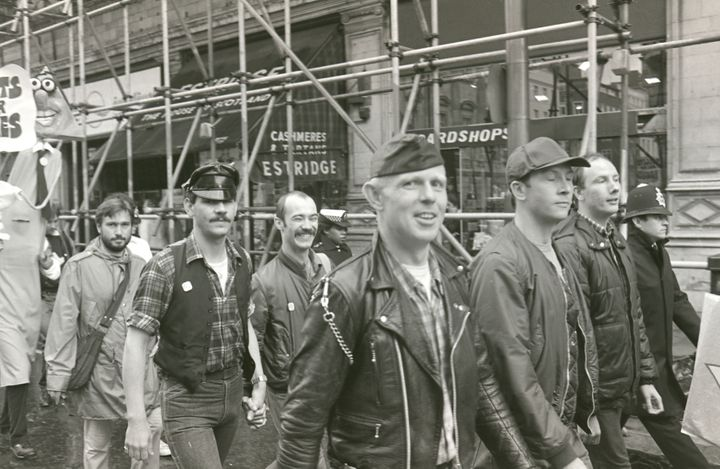 Attendees at London Gay Pride, 1982.