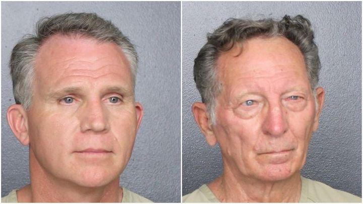 Walter Wayne Brown Jr., 53, and Gary Brummett, 81, are accused of impersonating U.S. Marshals in order to avoid wearing face