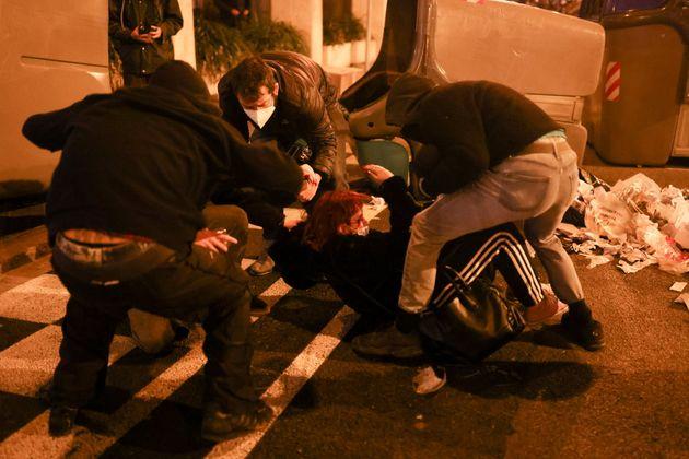 La mujer herida en la manifestación de