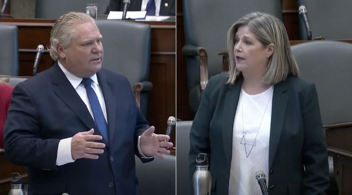 """Ontario Premier Doug Ford is being called sexist and misogynistic for comparing NDP Leader Andrea Horwath's questions to """"nails on a chalkboard."""""""