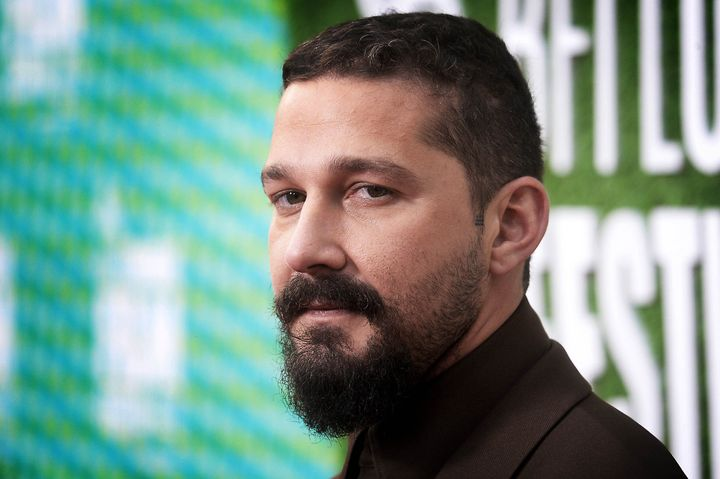 "Shia LaBeouf attends ""The Peanut Butter Falcon"" U.K. Premiere on October 3, 2019, in London, England."