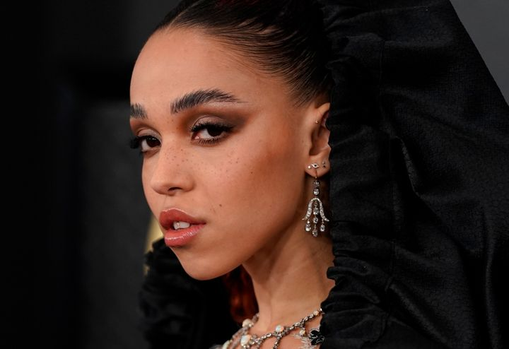 FKA twigs at the 62nd Grammy Awards in Los Angeles, California, on Jan. 26, 2020.