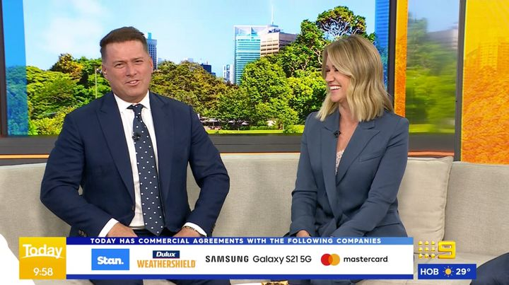 Karl Stefanovic and Leila McKinnon on the 'Today' show Thursday morning