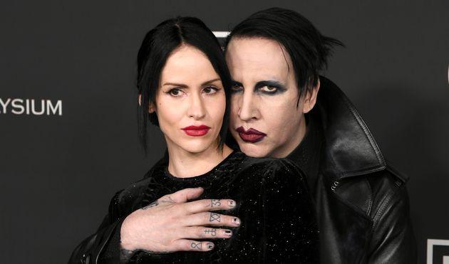 Lindsay Usich et Marilyn Manson, ici au mois de janvier