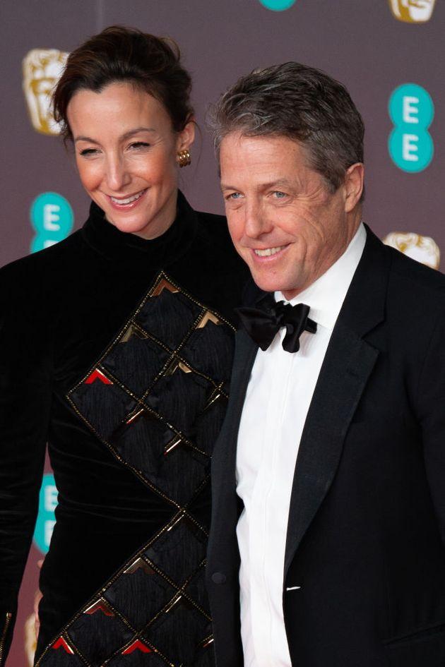 Hugh Grant and wife Anna