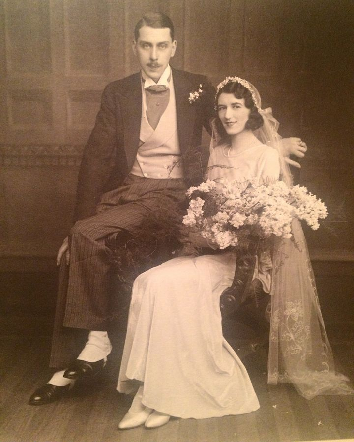 A photo of an unidentified couple, believed to have been taken in 1920's Darlington.