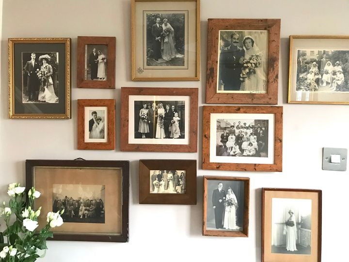 One of three photo displays in Charlotte Sibtain's home.