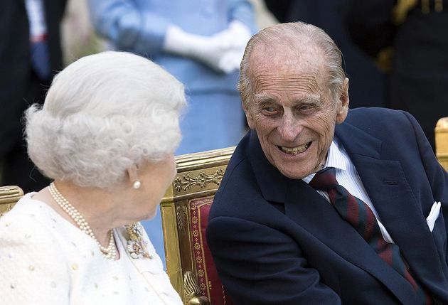 The Queen and Philip attend a garden party in Paris in