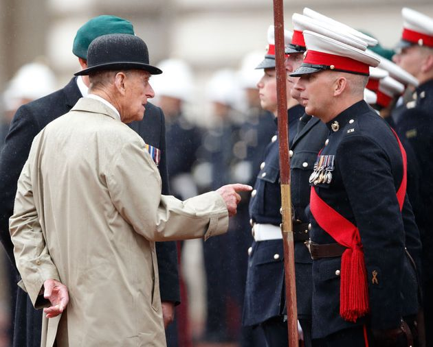 Prince Philip pictured at his final public solo engagement at Buckingham Palace in August