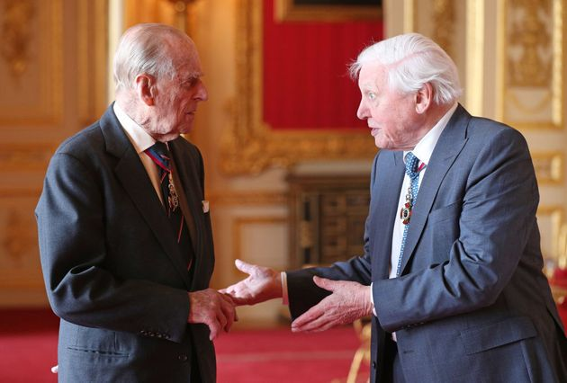 Members of the Order of Merit the Duke of Edinburgh and Sir David